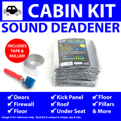 Heat & Sound Deadener Camaro 1967 - 69 Cabin Kit + Seam Tape, Roller 33231Cm2 - Part Number: ZIR7A3B6
