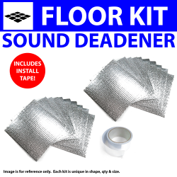 Heat & Sound Deadener Camaro 1967 - 1969 Floor Kit + Seam Tape 27189Cm2 - Part Number: ZIR7A02E