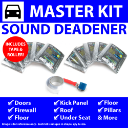 Heat & Sound Deadener Triumph TR2, 3 53 - 61 Master Kit + Tape, Roller 49569Cm2 - Part Number: ZIR7A6EB