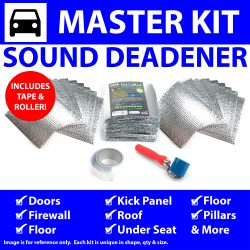 Heat & Sound Deadener Camaro 1967 - 69 Master Kit + Seam Tape, Roller 39273Cm2 - Part Number: ZIR7A65F