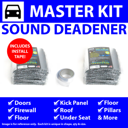 Heat & Sound Deadener Camaro 1967 - 1969 Master Kit + Seam Tape 39273Cm2 - Part Number: ZIR7A57D