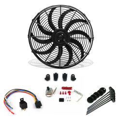 "Super Cool Pack 16"" S Blade Fan, Adjustable Temp Switch & Harness - Part Number: ZIRZFK216Y1YNO"