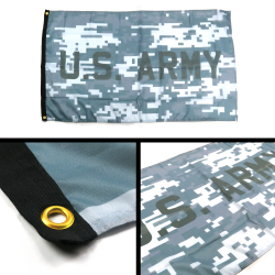 United States Army Camo Flag - Part Number: BANPOLT07