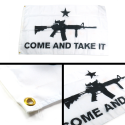 Come And Take It - Gun Rights Protest Flag - Part Number: BANPOLT11