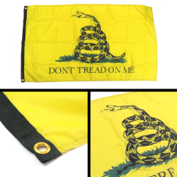 Don't Tread On Me Yellow Flag - Part Number: BANPOLT14