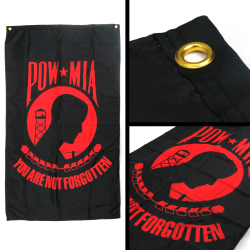 Pow Mia You Are Not Forgotten Vertical Flag - Part Number: BANPOLT17