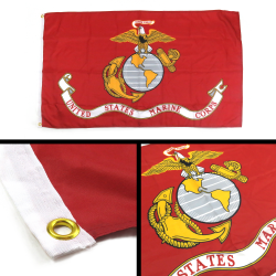 United States Marine Corps Flag - Part Number: BANPOLT21