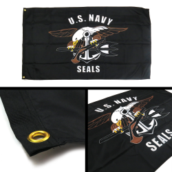 United States Navy Seals Flag - Part Number: BANPOLT24