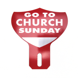 Go To Church Sunday License Plate Topper - Part Number: VPALPT009