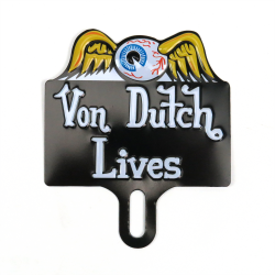 Flying Eye Ball License Plate Topper - Part Number: VPALPT011
