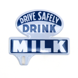Drink Milk License Plate Topper - Part Number: VPALPT012