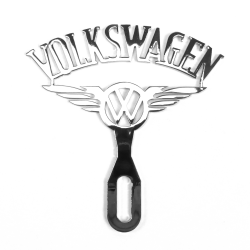Volkswagen Chromed License Plate Topper - Part Number: VPALPT016