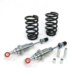 Mustang II Adjustable Coil-Over Front Shock Kit with Tapered Coils - Pair - Part Number: HEXSHX4