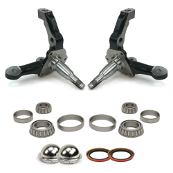 Stock Height Mustang II & Pinto Spindles with Bearings, Seals and Dust Caps - Part Number: HEXMIISPINBSD