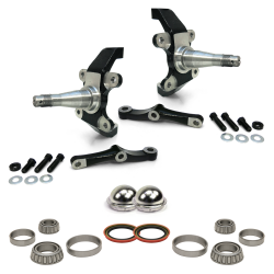 Pro Touring Dropped MII & Pinto Spindles with Bearings, Seals and Dust Caps - Part Number: HEXMIISPINBSD3