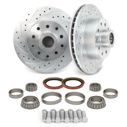 "MII / Pinto 11"" Round Vented Rotor Conversion Kit - Drilled and Slotted - Part Number: HEXMIIRRCK"