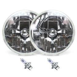 Snake-Eye 7 Inch Halogen Lens Assembly with H4 bulb ~ Pair - Part Number: AUTLENA1ABS