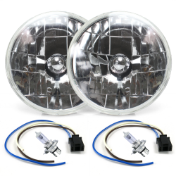 Snake-Eye 7 Inch Halogen Lens Assembly with H4 Bulb and Plug ~ Pair - Part Number: AUTLENA1AKS