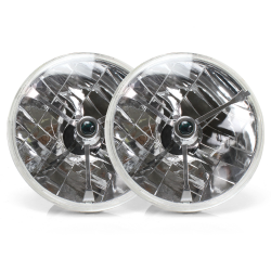 "Tri-Bar 7"" Inch Halogen Lens Assembly ~ Pair - Part Number: AUTLENB1AS"