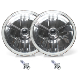 "5 3/4"" Inch Tri-Bar Lens Assembly with H4 Bulb ~ Pair - Part Number: AUTLENC1ABS"