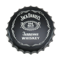 Jack Daniel's Tennessee Whiskey Bottle Cap Display Sign - Baked Enamel - Part Number: VPABCSIGN07
