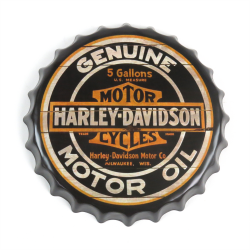 Harley-Davidson Motor Oil Motorcycle Bottle Cap Display Sign - Baked Enamel - Part Number: VPABCSIGN02