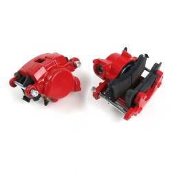 Red GM Single Piston Calipers (Pair)  - Part Number: HEXBC1RD