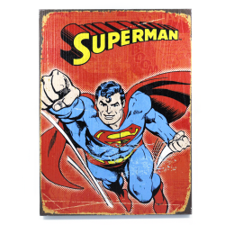 Retro Superman Wooden Sign - Part Number: VPAWSIGN03