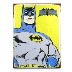 Retro Batman Wooden Sign - Part Number: VPAWSIGN04