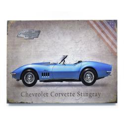 Signature Corvette Wooden Sign - Part Number: VPAWSIGN05