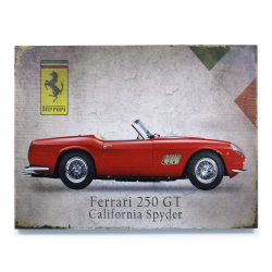 Signature Ferrari Wooden Sign - Part Number: VPAWSIGN06