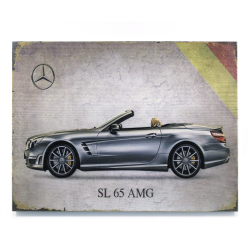 Signature Mercedes Wooden Sign - Part Number: VPAWSIGN07