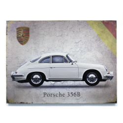 Signature Porsche Wooden Sign - Part Number: VPAWSIGN08