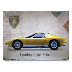 Signature Lamborghini Wooden Sign - Part Number: VPAWSIGN09