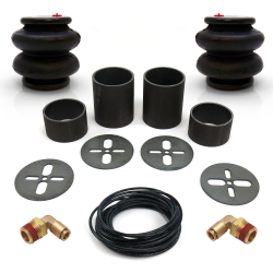 Universal Rear Air Bag Bracket Kit with 2600lb Air Bags, Line & Fittings - Part Number: HEXABB31B