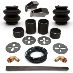 Universal Rear Air Bag Bracket Kit with Air Bags, Line, Fittings & Shock Mnts - Part Number: HEXABB31BR