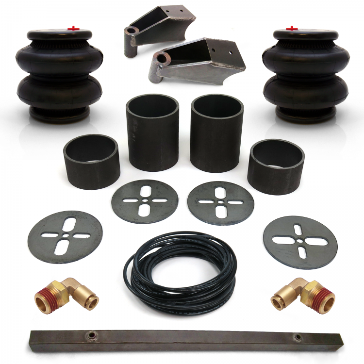 Universal Rear Air Bag Bracket Kit with Air Bags, Line, Fittings