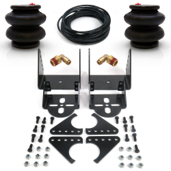 Adjustable Bolt On Rear Axle Air Ride Bag Bracket Kit- 2600lb Bags Fittings Line - Part Number: HEXABB32B