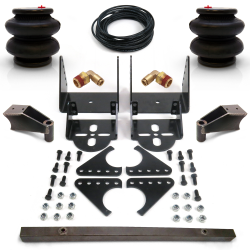 Adjustable Rear Axle Bag Bracket Kit- 2600lb bags fittings line Shock Mnts - Part Number: HEXABB32BR