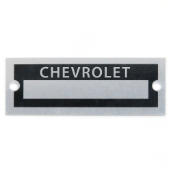 Blank Data Vin Plate - Chevrolet - Part Number: VPAVIN26