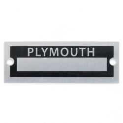 Blank Data Vin Plate - Plymouth - Part Number: VPAVIN75