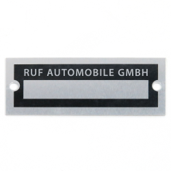 Blank Data Vin Plate - RUF Automobile GmbH - Part Number: VPAVIN84
