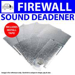 Heat & Sound Deadener Early Triumph 1946 - 54 Firewall Kit + Seam Tape 11466Cm2 - Part Number: ZIR798C8