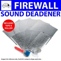 Heat & Sound Deadener Ford 1935 - 40 Firewall Kit + Seam Tape, Roller 9135Cm2 - Part Number: ZIR79921