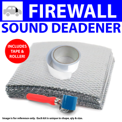 Heat & Sound Deadener Early Cars 1935 - 40 Firewall Kit + Tape, Roller 12483Cm2 - Part Number: ZIR799D2