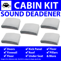 Heat & Sound Deadener for 71-80 VW In Cabin Kit 6173cm2 - Part Number: ZIR76488