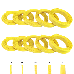 Neon Yellow Ultra Wrap Wire Loom Variety Pack - 100 Feet Total