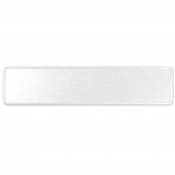 European Vintage Style License Plate (White) - Part Number: VPALP01