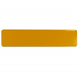 European Vintage Style License Plate (Yellow) - Part Number: VPALP02
