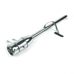"32"" Chrome Steering Column ~ Floor Shift with 9 Hole Wheel Adapter - Part Number: HEX7AD36"